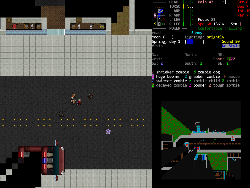 Screenshot of Cataclysm: Dark Days Ahead